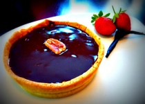 Chocolate Salted Caramel Tart with Pecans