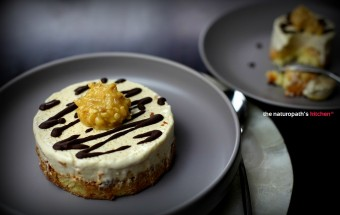 Banana Coconut Bavarois with Salted Peanut CaramelEditPMWM